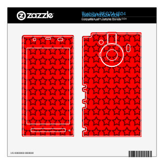 Pattern Red Background with Black Stars Toshiba REGZA Decals