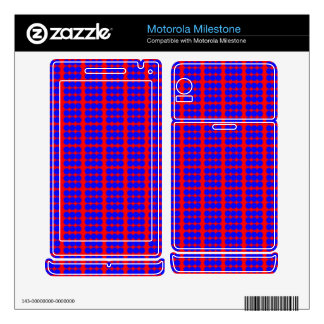 Pattern: Red Background with Blue Circles Motorola Milestone Decal