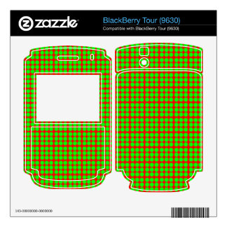 Pattern Red Background with Green Circles BlackBerry Skin