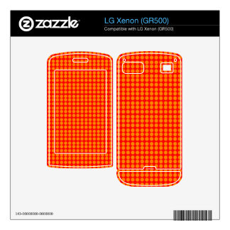 Pattern Red Background with Orange Circles LG Xenon Decals