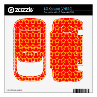 Pattern Red Background with Orange Stars Decal For The LG Octane