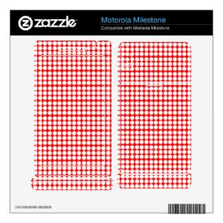 Pattern: Red Background with White Circles Motorola Milestone Decal