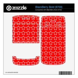 Pattern Red Background with White Stars BlackBerry Skin