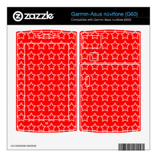 Pattern: Red Background with White Stars Garmin Asus Nuvifone Skin