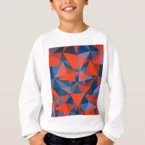 pattern red blue sweatshirt