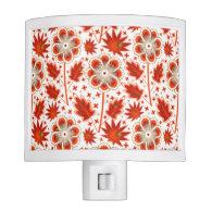 Pattern_Red_Flower #01 Night Light