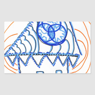 Pattern Repetition Was this House Abstract Rectangular Sticker