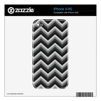 Pattern Retro Zig Zag Chevron Decals For The iPhone 4