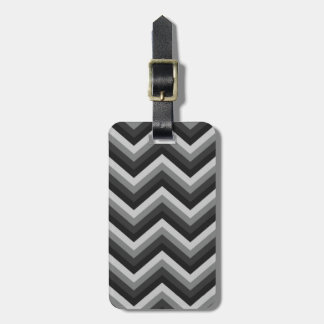 Pattern Retro Zig Zag Chevron Luggage Tag