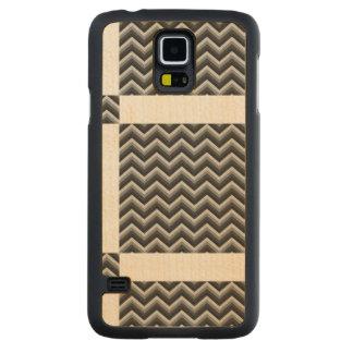 Pattern Retro Zig Zag Chevron Carved® Maple Galaxy S5 Case