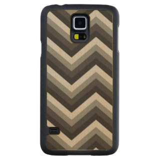 Pattern Retro Zig Zag Chevron Carved® Maple Galaxy S5 Slim Case