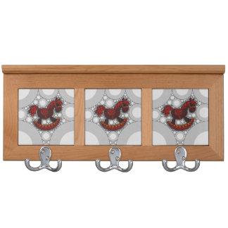 Pattern Rocking Horse Coat Rack