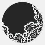 pattern round sticker