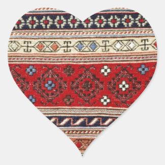 Pattern Rug Turkish Peace Love Art Party Destiny Heart Sticker