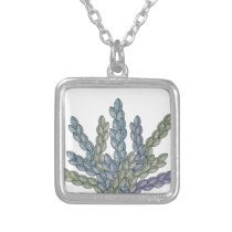 Pattern S Silver Plated Necklace