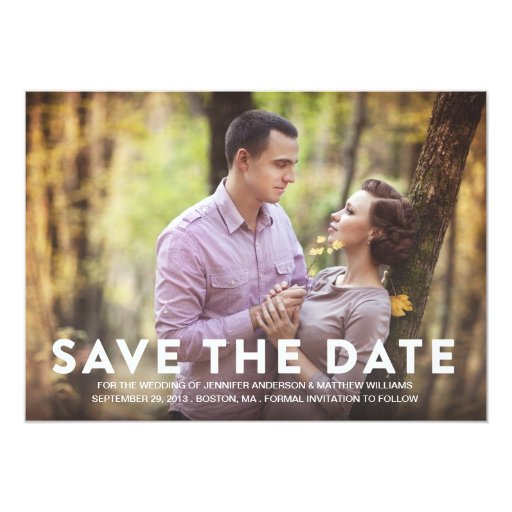 PATTERN SAVE THE DATE ANNOUNCEMENT