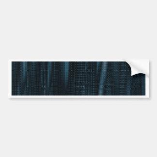pattern serie waves 1 blue bumper sticker