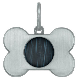 pattern serie waves 1 blue pet name tag