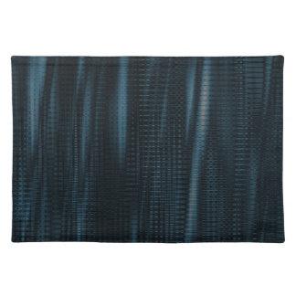 pattern serie waves 1 blue place mats