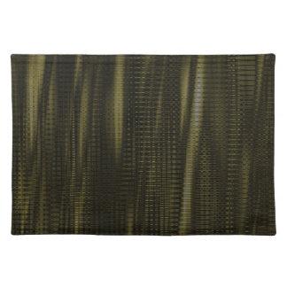 pattern serie waves 1 green place mats