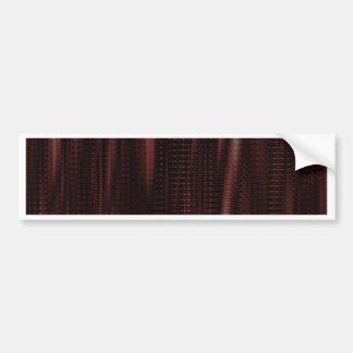 pattern serie waves 1 red bumper sticker