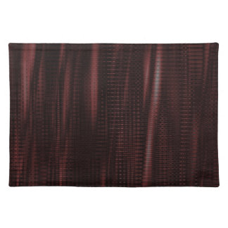 pattern serie waves 1 red place mats