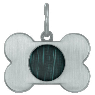 pattern serie waves 1 turquoise pet name tags