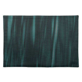 pattern serie waves 1 turquoise place mat