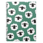 Pattern Sheep (Any Color) Spiral Notebook