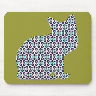 Pattern Silhouette Kitty Cat Mouse Pads