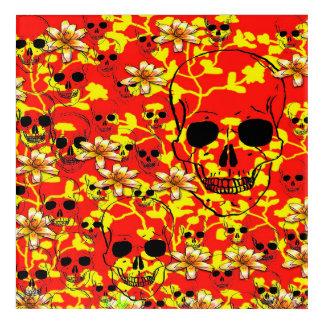 Pattern Skull Design Acrylic Wall Art