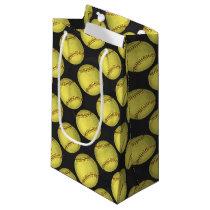 Pattern Softball Small Gift Bag