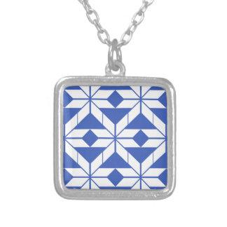 Pattern Square Pendant Necklace