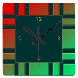 Pattern Square Wall Clock
