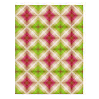 Pattern squares green pink created by Tutti Postcard
