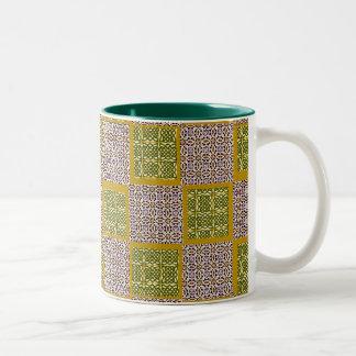 Pattern Squares Two Tone Mug