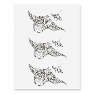 pattern stingray temporary tattoo x3