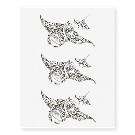 301d662f4 pattern stingray temporary tattoo x3 | Zazzle.com