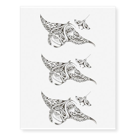 69fca4e2a76b3 pattern stingray temporary tattoo x3 | Zazzle.com