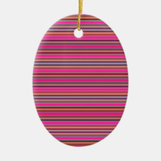 Pattern Stripes Colorful Tribal Mexico Pink Neon Ceramic Ornament