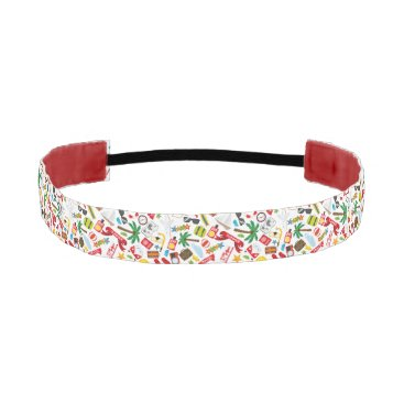 Beach Themed Pattern Summer holiday travel south sea Athletic Headband
