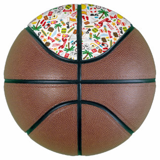 Pattern Summer holiday travel south sea Basketball