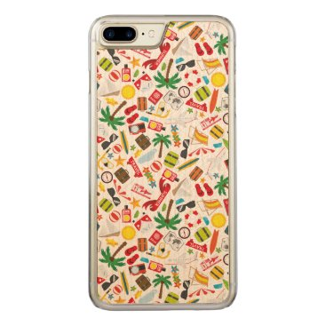 Beach Themed Pattern Summer holiday travel south sea Carved iPhone 7 Plus Case