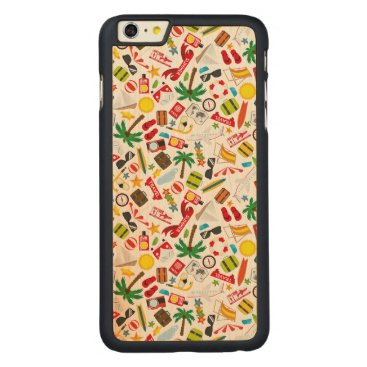 Beach Themed Pattern Summer holiday travel south sea Carved Maple iPhone 6 Plus Slim Case