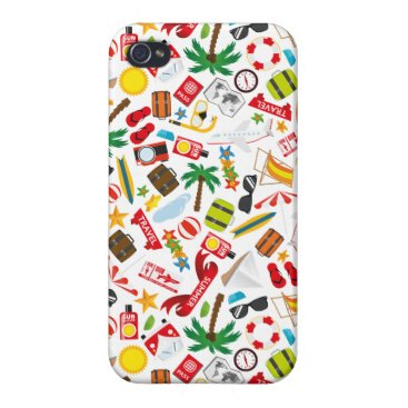 Beach Themed Pattern Summer holiday travel south sea Covers For iPhone 4