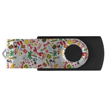 Beach Themed Pattern Summer holiday travel south sea Flash Drive