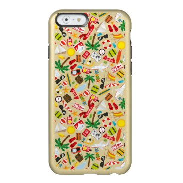 Beach Themed Pattern Summer holiday travel south sea Incipio Feather Shine iPhone 6 Case