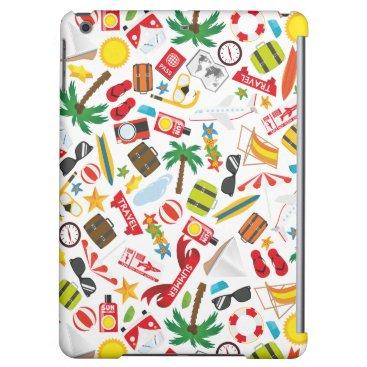 Beach Themed Pattern Summer holiday travel south sea iPad Air Case