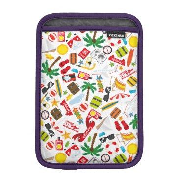 Beach Themed Pattern Summer holiday travel south sea iPad Mini Sleeve