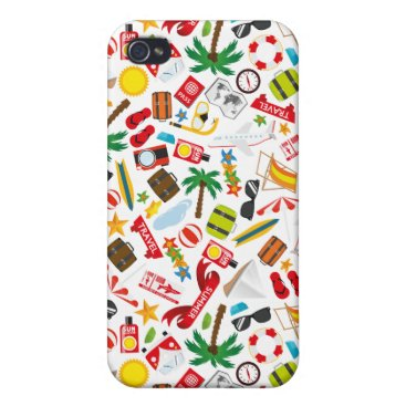 Beach Themed Pattern Summer holiday travel south sea iPhone 4/4S Covers